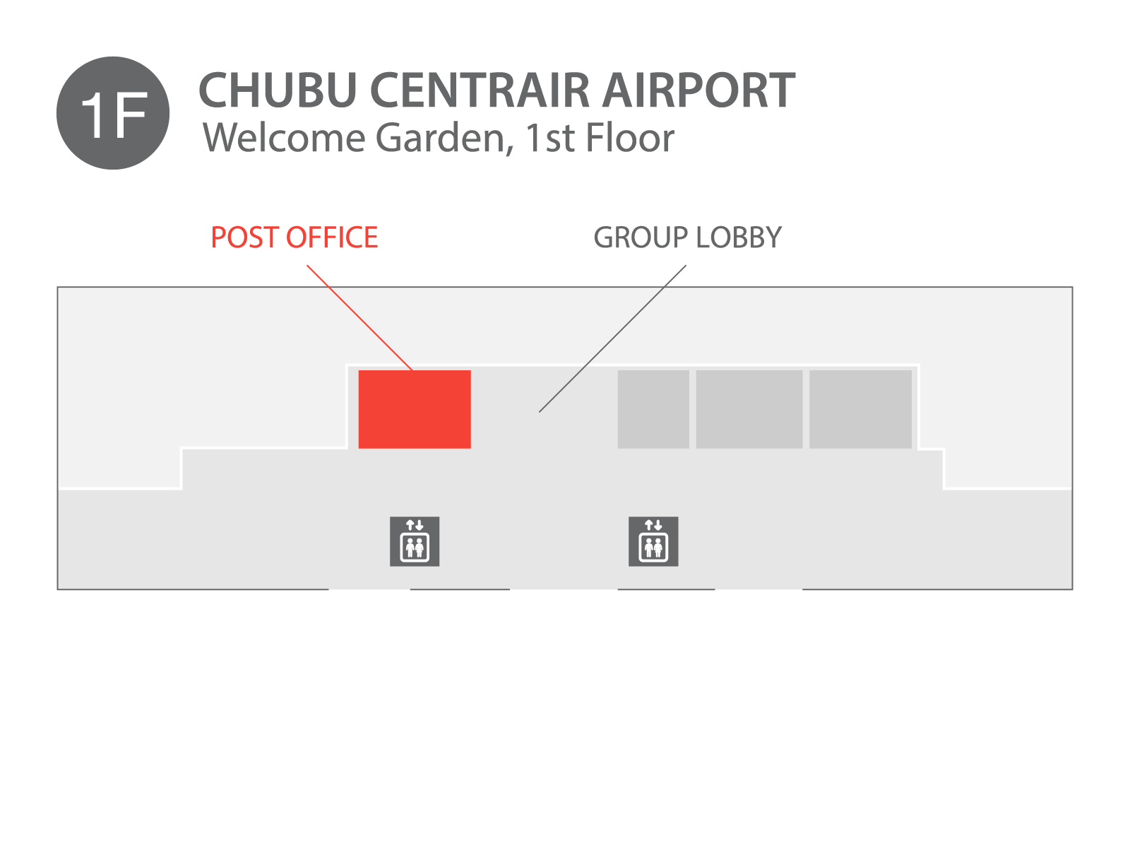 Chubu Centrair Airport - Chubu Centrair airport located on 1st floor.