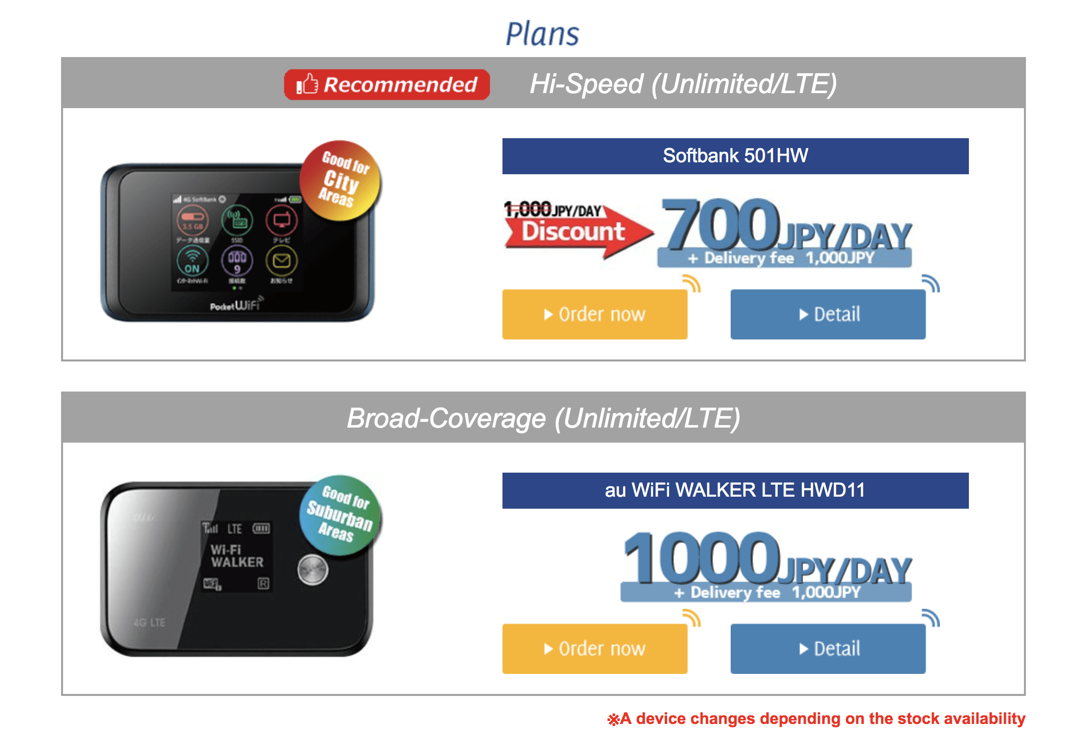 pupuru wifi rental plans and prices